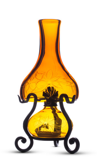 ENGRAVED GLASS LAMPS